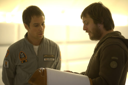 Sam Rockwell and director Duncan Jones