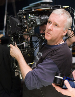James Cameron with Avatar's virtual camera