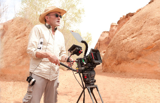 Danny Boyle on set with the SI-2K