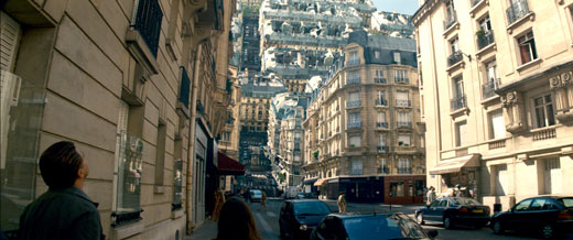 Inception's folding-Paris dream