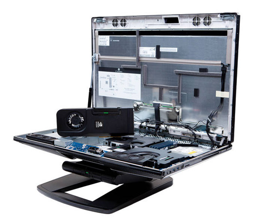 HP's Z1 workstation disassembled