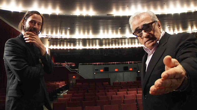 Keanu Reeves and Martin Scorsese