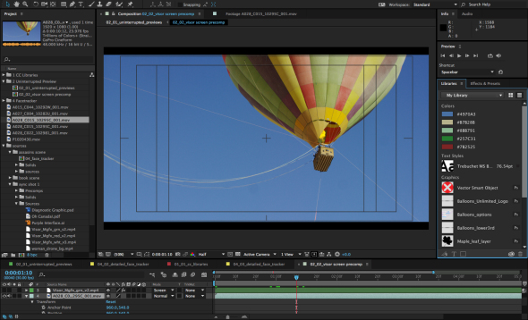 After Effects Creative Cloud Libraries