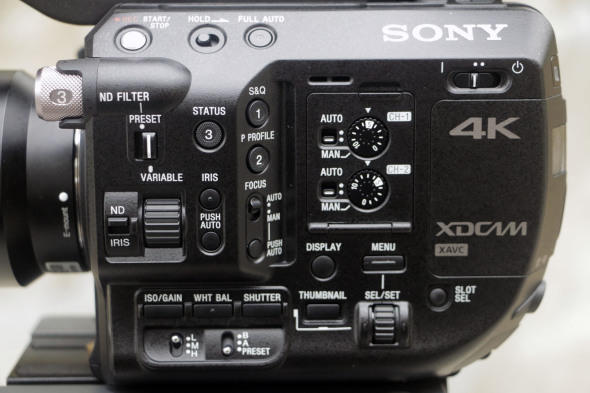 Sony FS5 buttons
