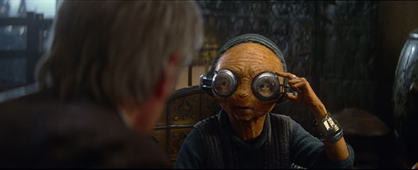 Maz, one of two significant all-CG characters in the film