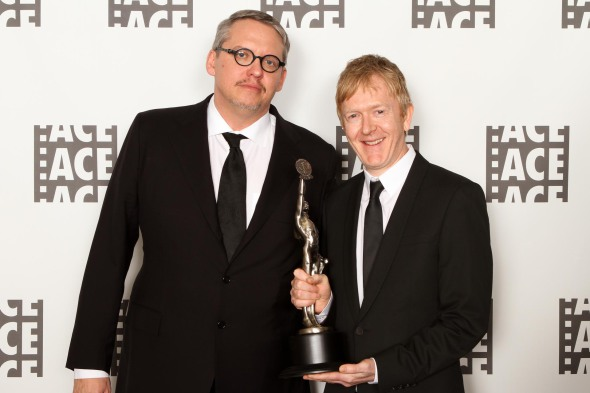 Presenter Adam McKay (Left, director of The Big Short) with editor Chris King, winner of the Eddie for best edited feature film documentary, Amy.