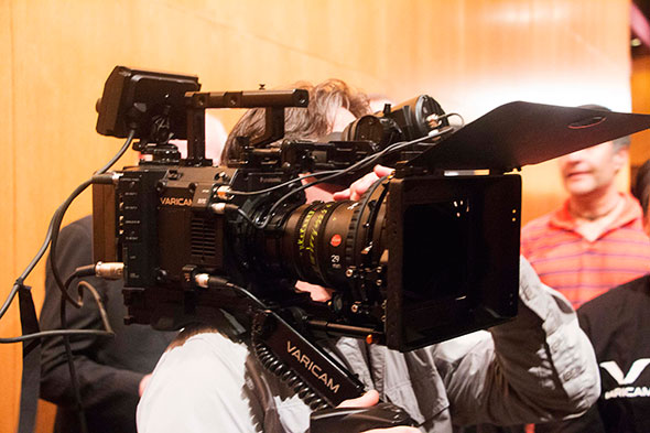 Panasonic VariCam LT on a shoulder