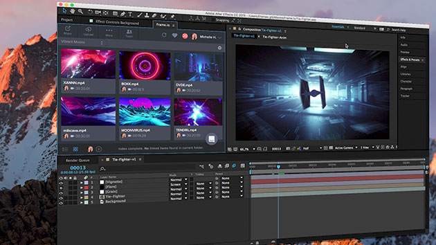 Frame.io After Effects integration