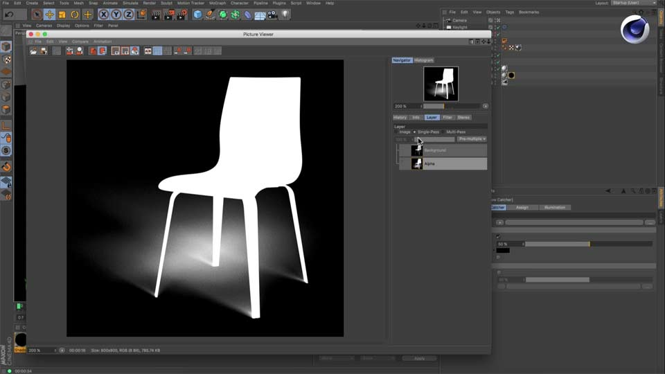 How to Use Maxon Cinema4D R18's Shadow Catcher Material