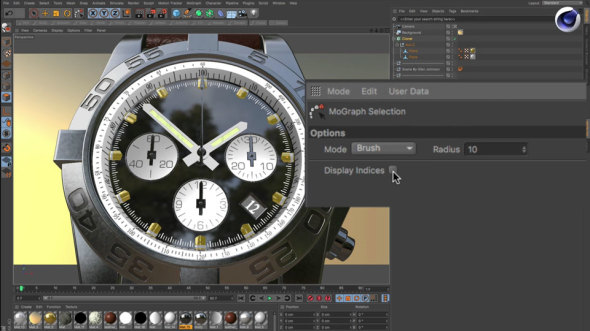 Cinema 4D Display Clone Indices