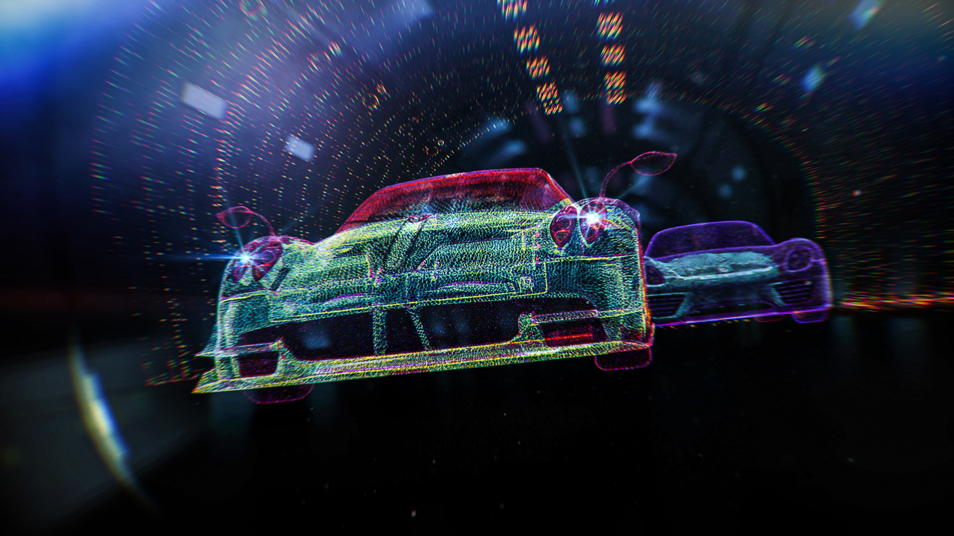 Blind used Houdini with X-Particles and Cycles 4D to achieve the pixel-threading look.