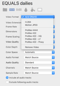 PrimeTranscoder Avid DNxHD option