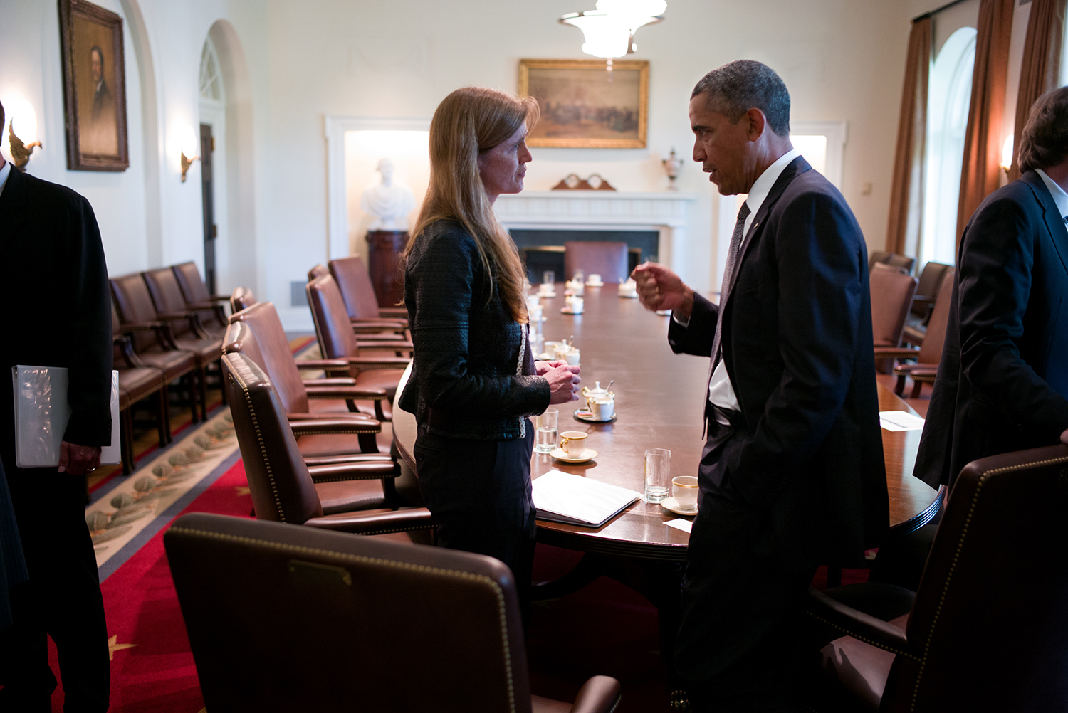 Ambassador Samantha Power and President Barack Obam