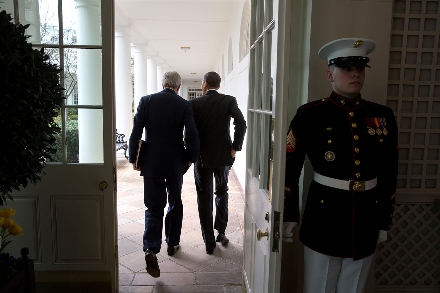 Secretary of State John Kerry and President Barack Obama at the White House.