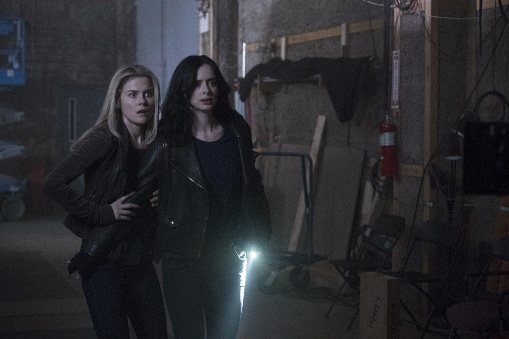 Rachael Taylor and Krysten Ritter in <i>Jessica Jones</i>