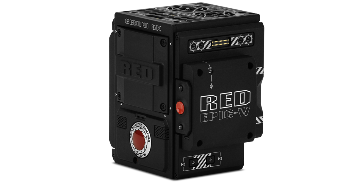 Red Epic-W with Gemini 5K S35 sensor 3/4 view