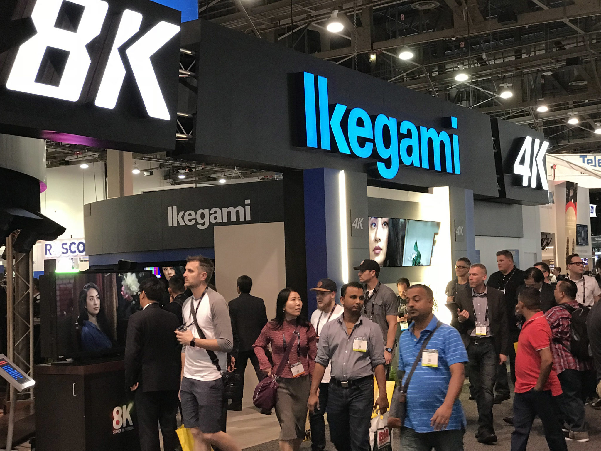 Ikegami 4K and 8K signage at NAB 2018