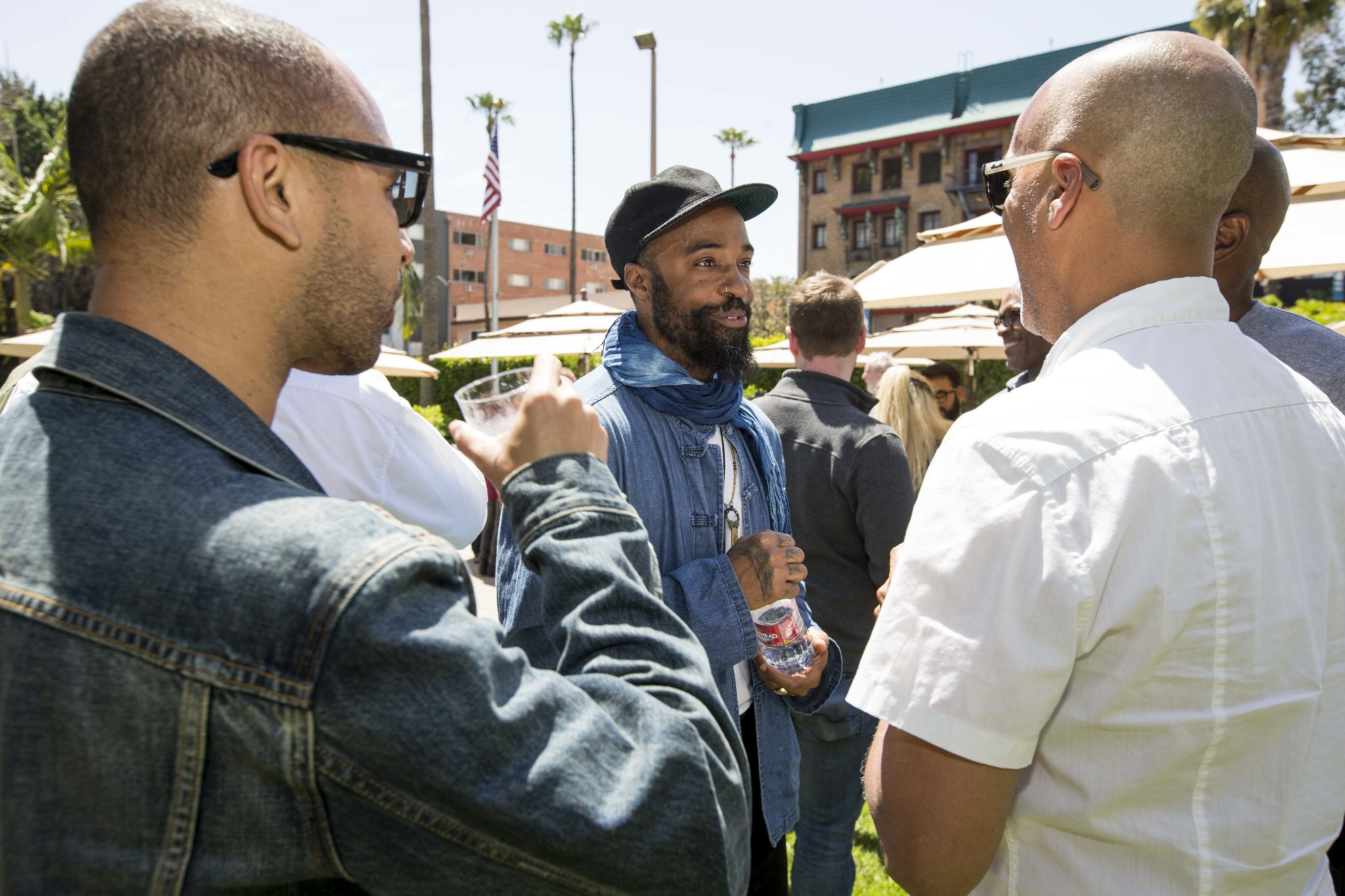 Bradford Young, ASC talks to attendees.