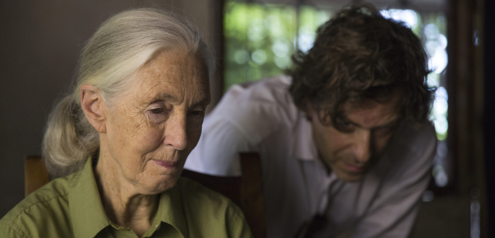 Jane Goodall with director Brett Morgan