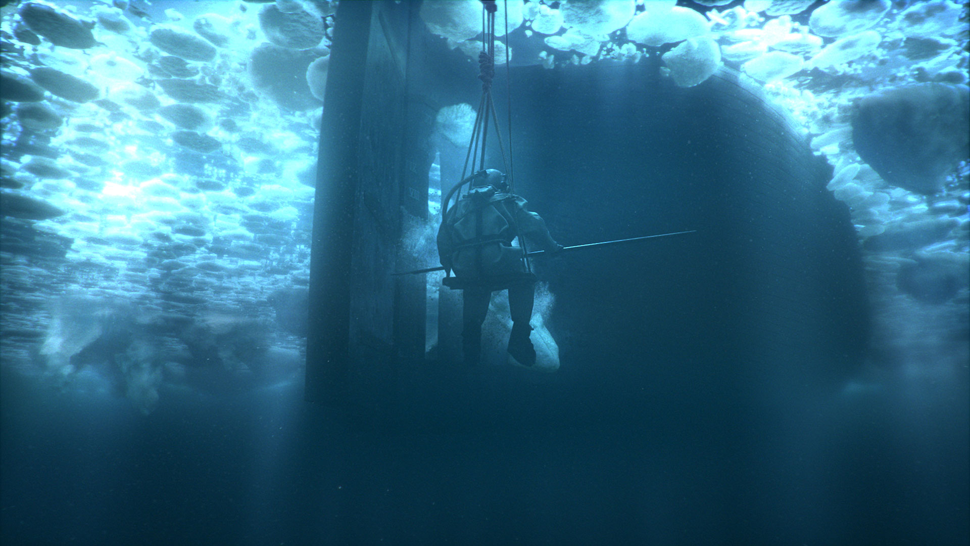 An underwater scene from The Terror
