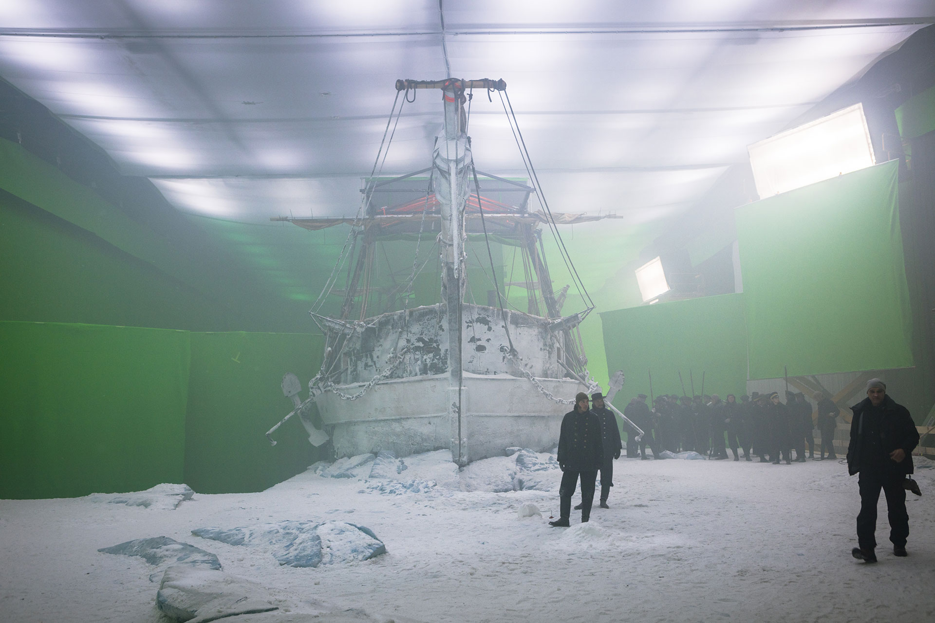 Shooting The Terror on soundstage