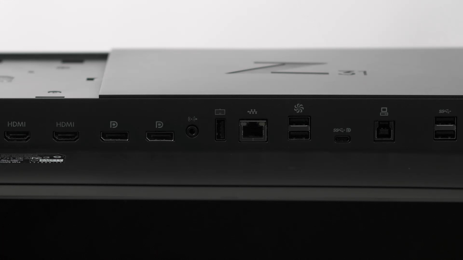 HP DreamColor Z31x ports