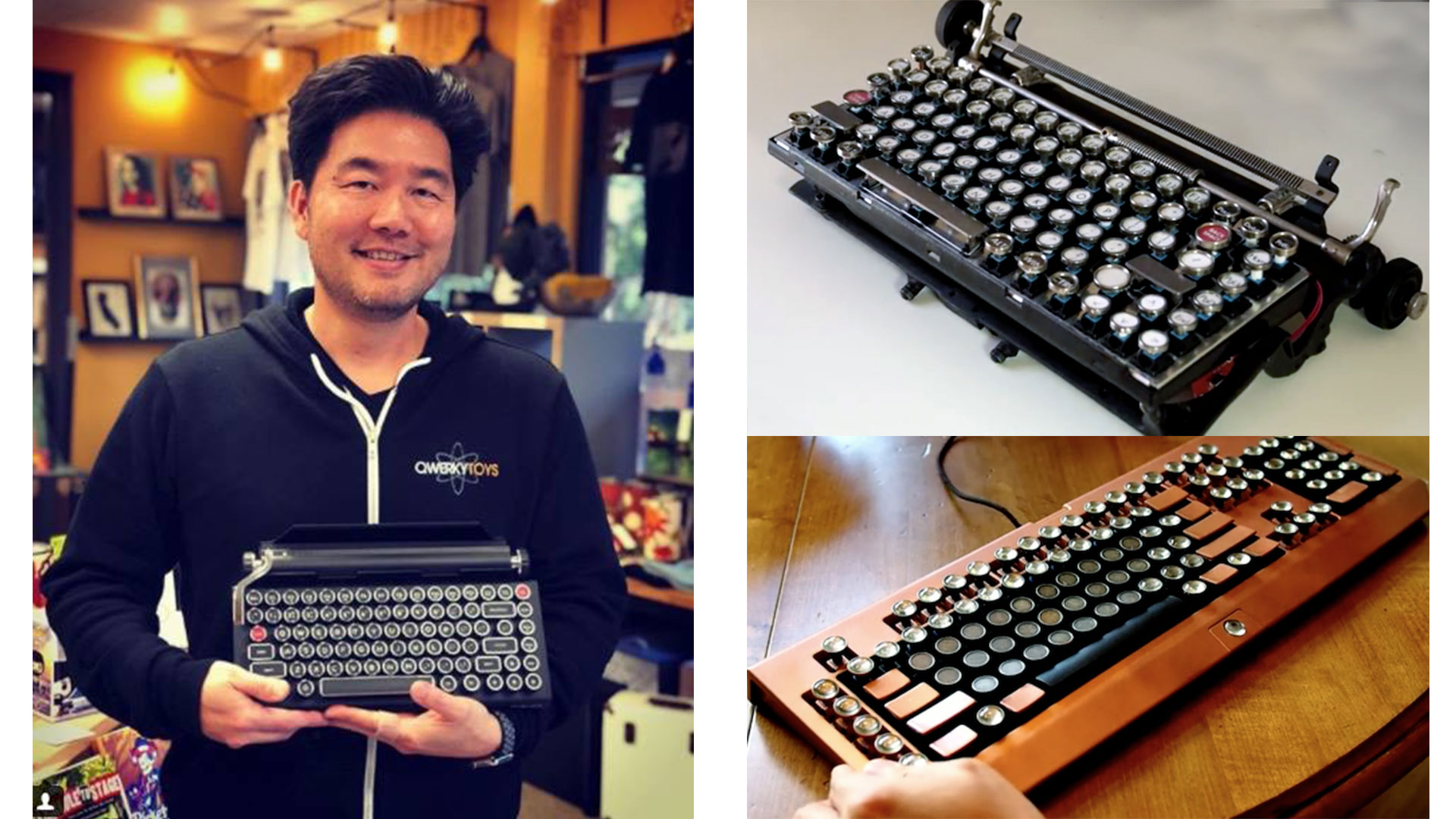 Brian Min and the Qwerkywriter prototype