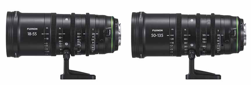 Fujifilm MKX18-55mmT2.9 and MKX50-135mmT2.9 cinema lenses