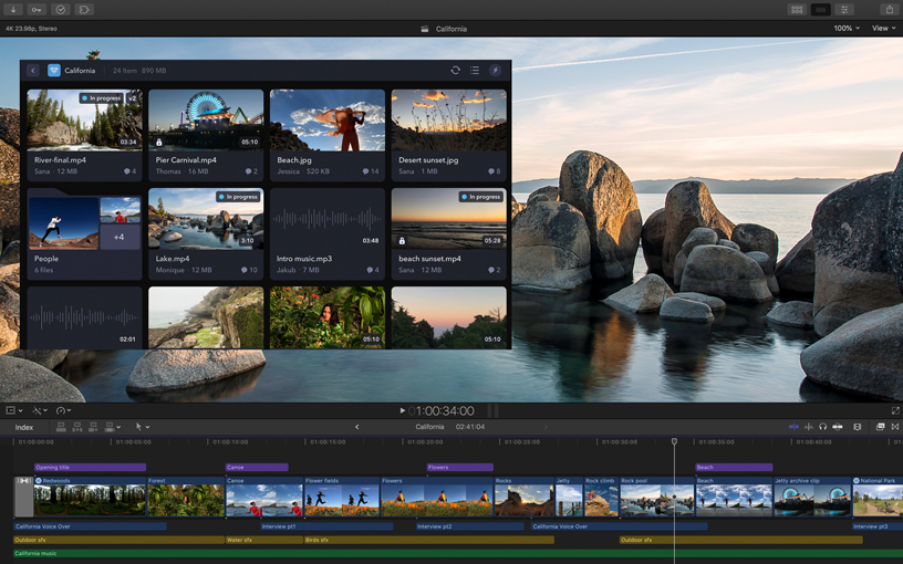 Frame.io workflow extension for Final Cut Pro X
