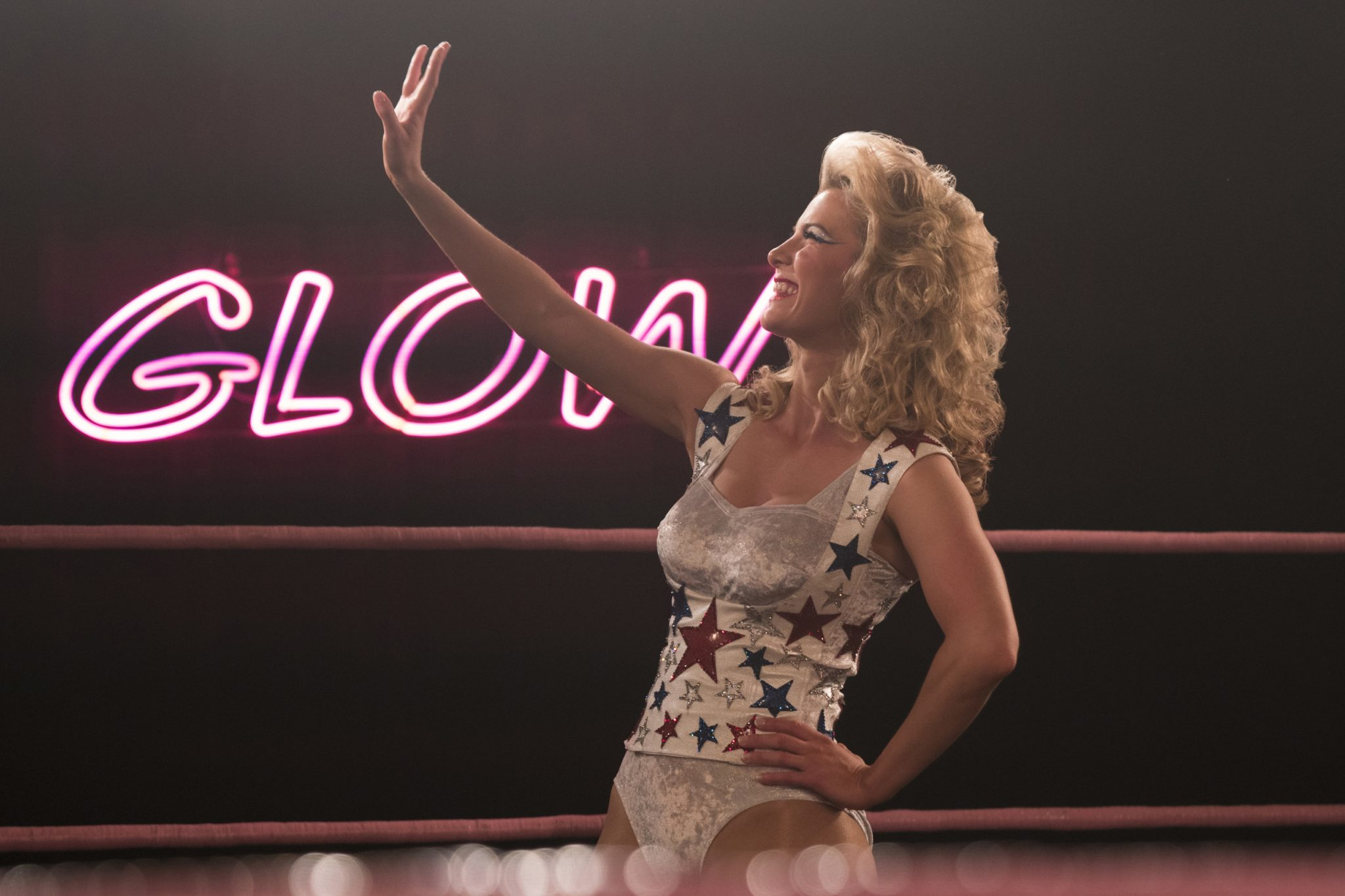 Betty Gilpin in <i>GLOW</i> season two.
