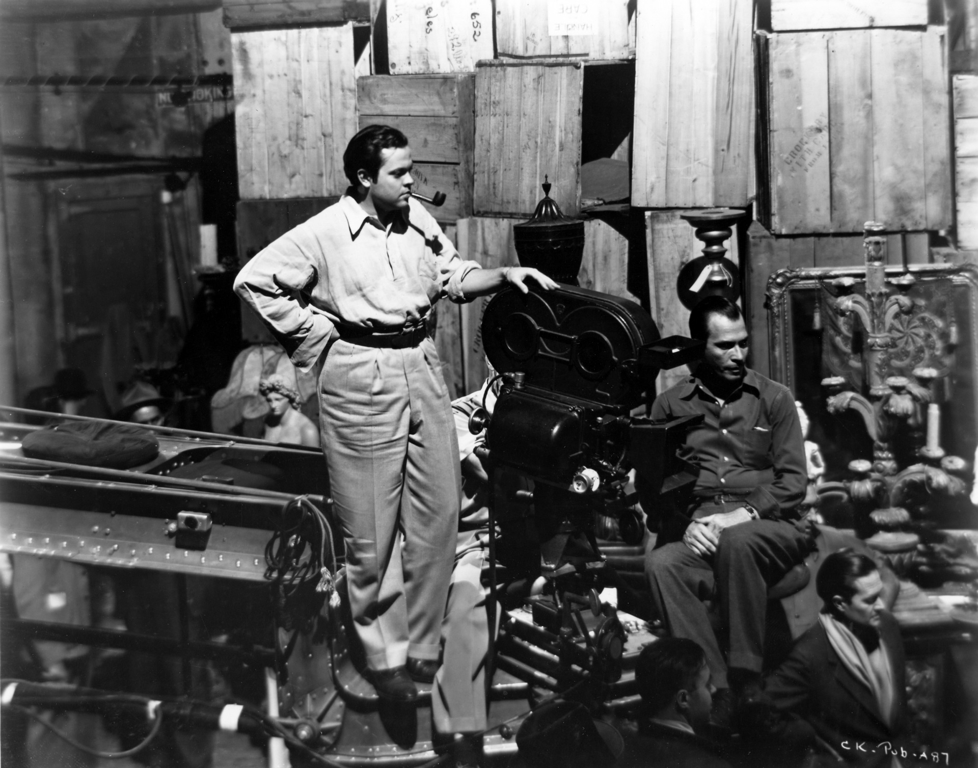 Orson Welles filming Citizen Kane