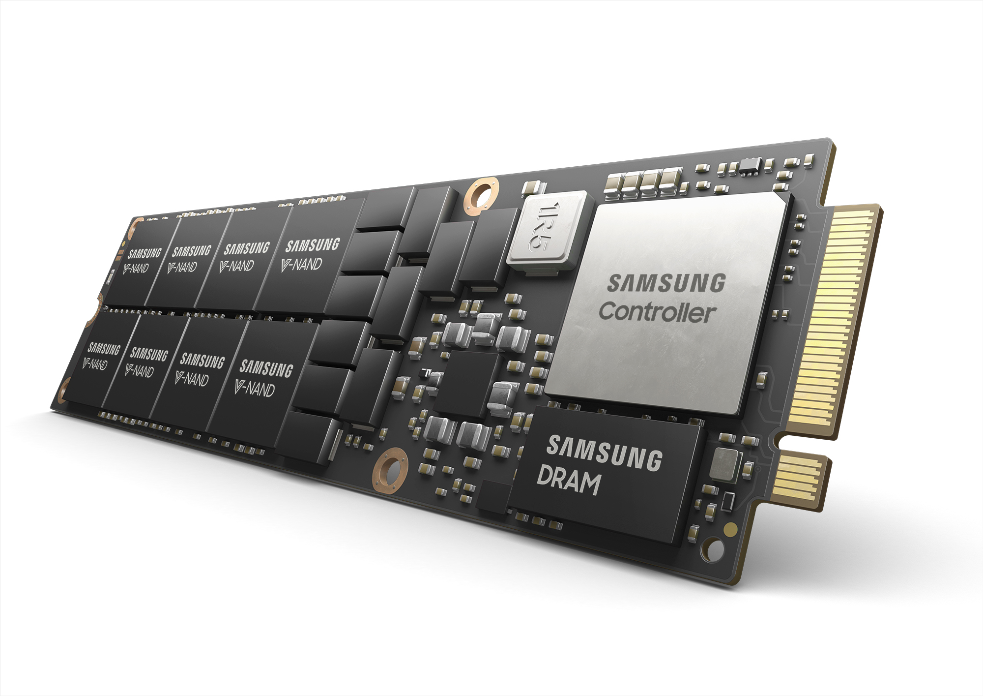 Illustration of a NF1 8TB NVMe SSD