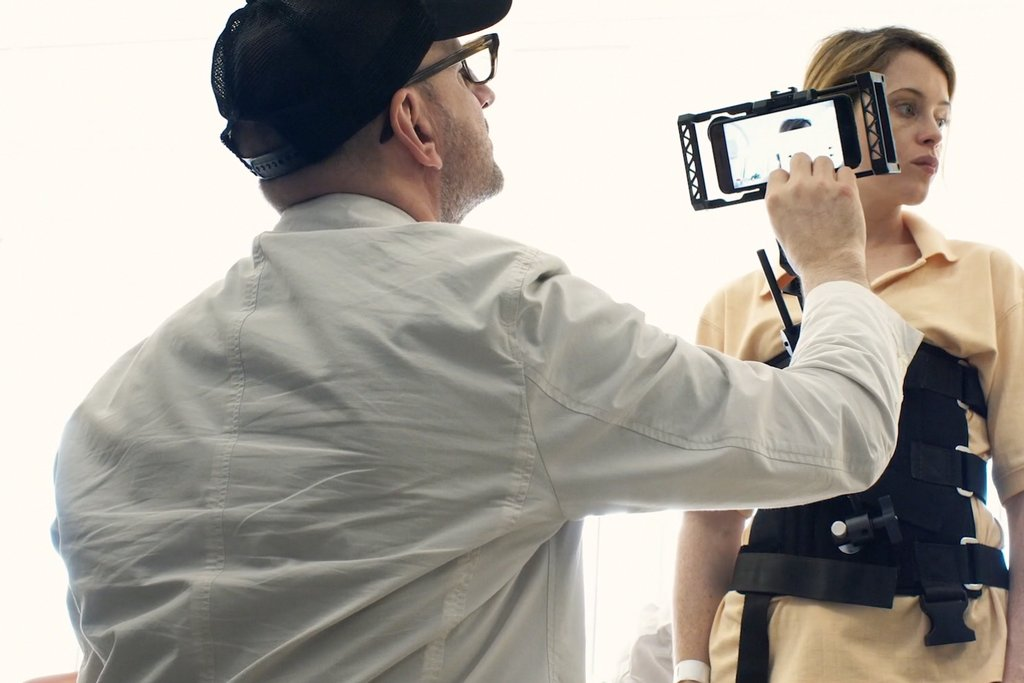 Behind-the-scenes image from <i>Unsane</i>
