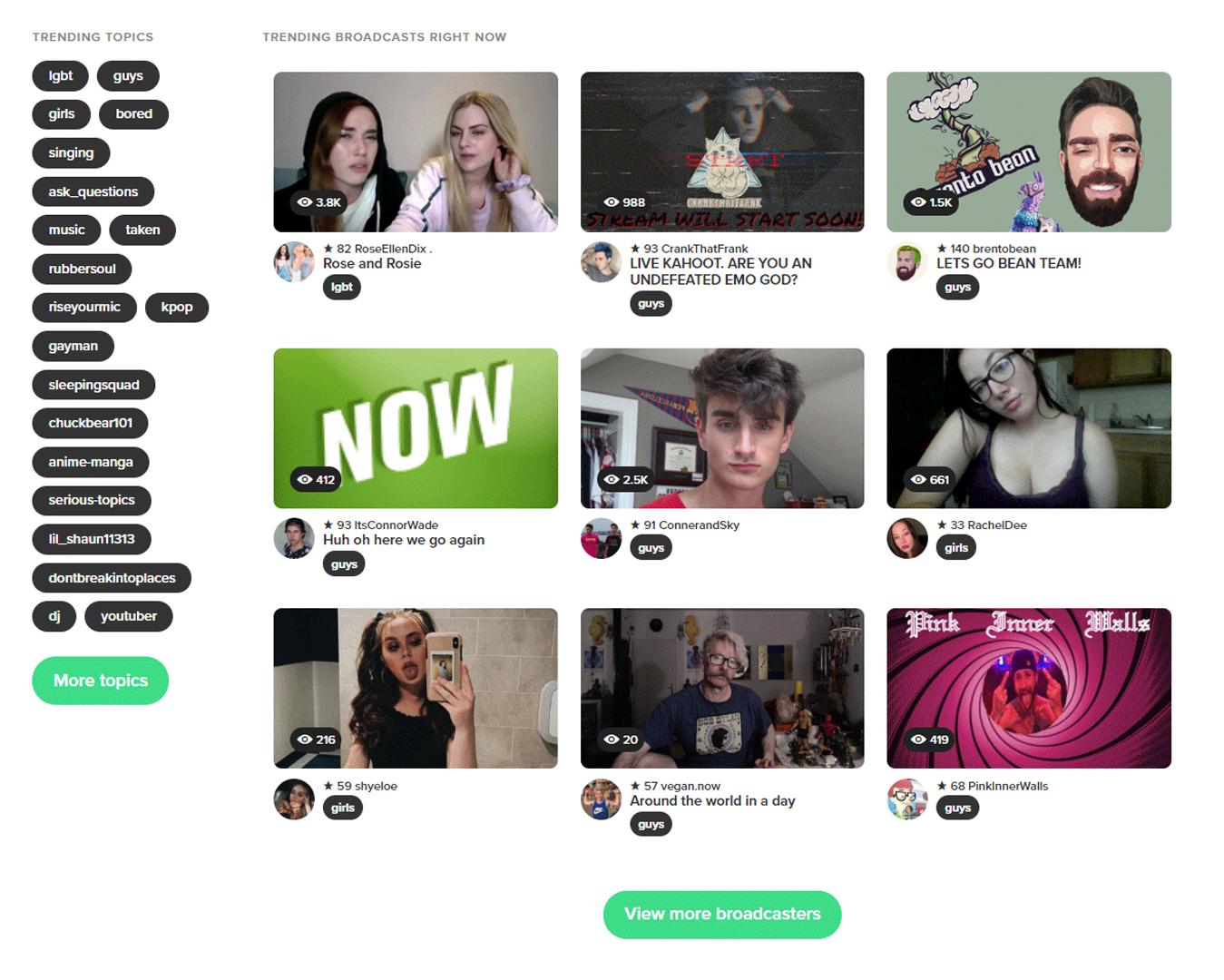 YouNow screenshot