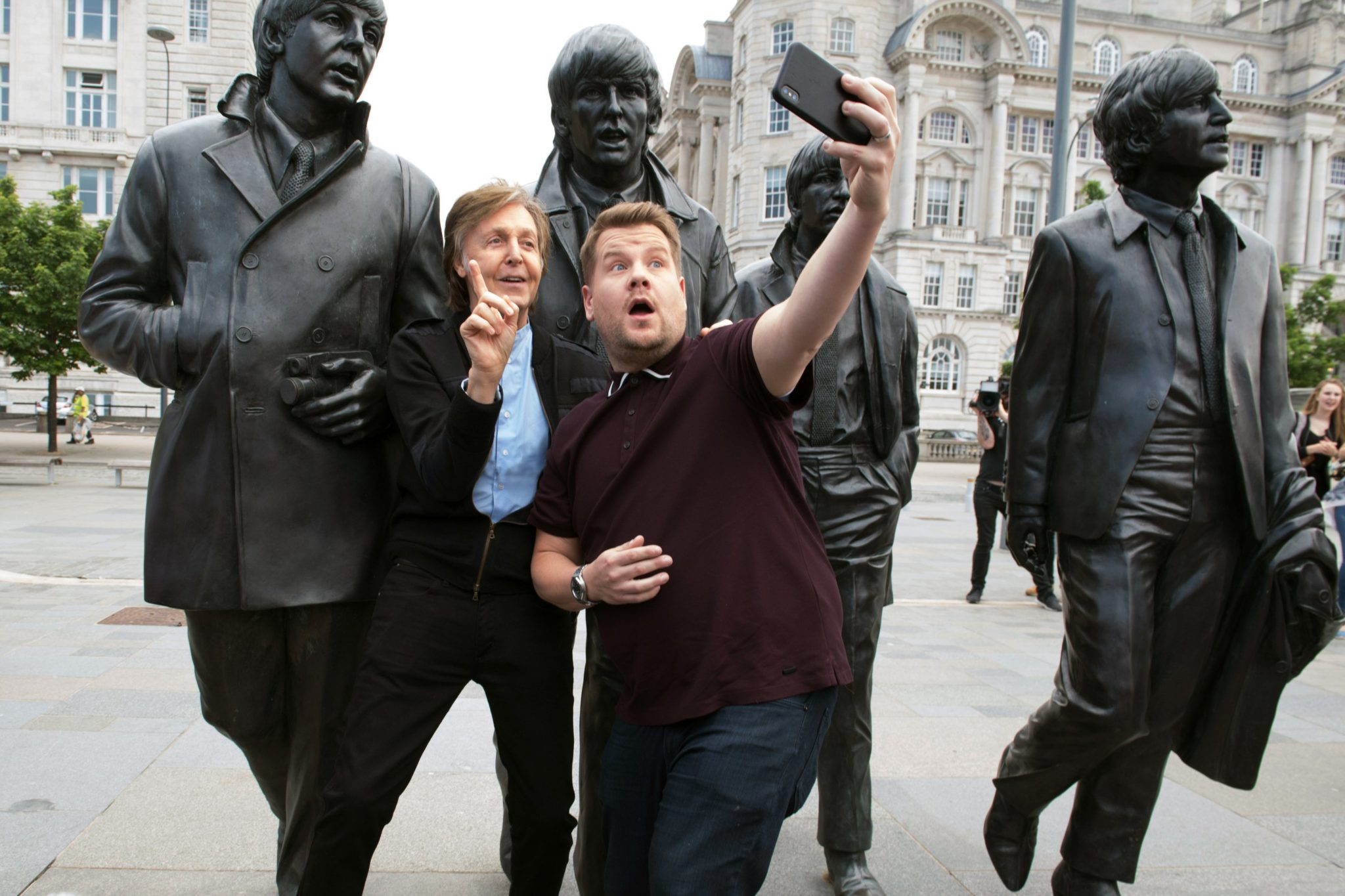 Paul McCartney and James Corden