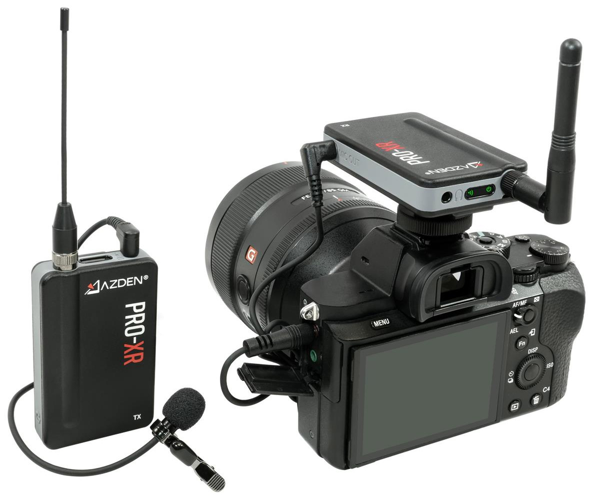 Azden PRO-XR Professional Grade 2.4GHz Digital Wireless Microphone System
