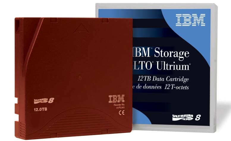 LTO-8 tape media from IBM