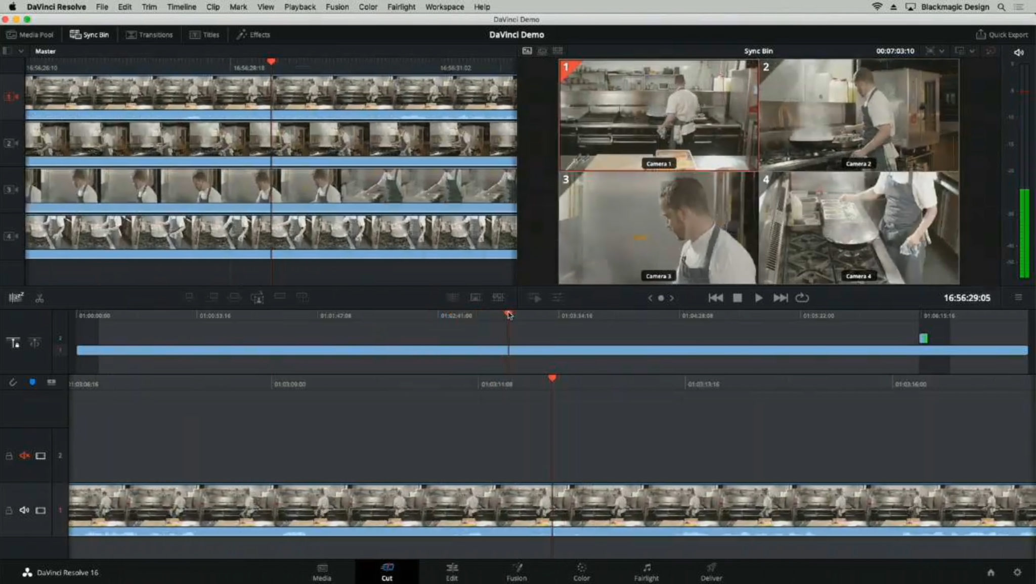 Blackmagic Da Vinci Resolve Sync Bin