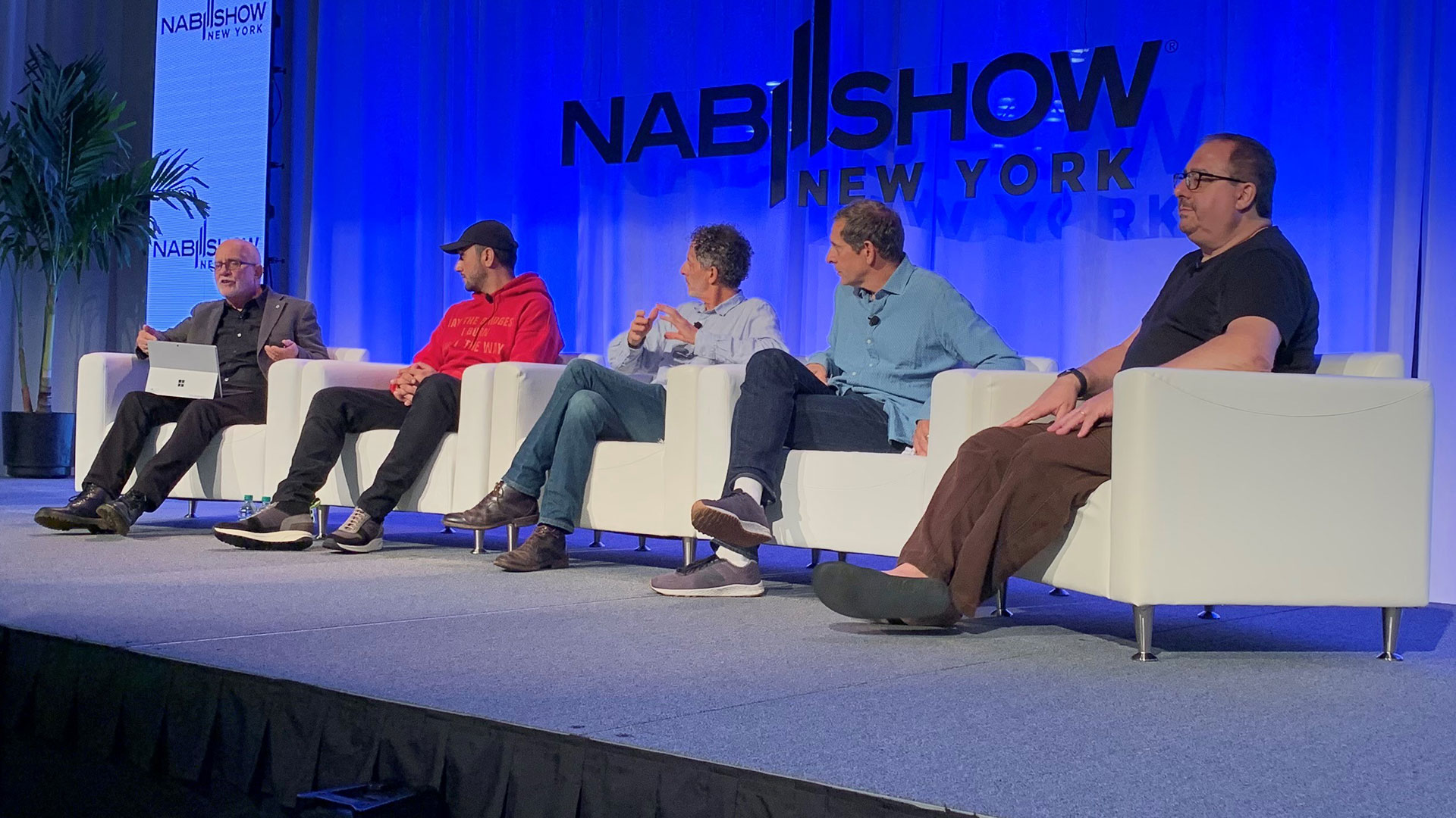 Panelists on stage at NAB New York