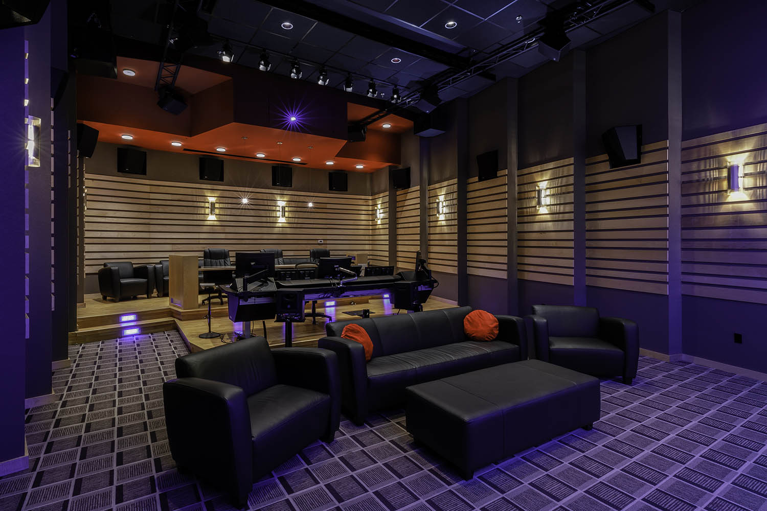Dolby Atmos mixing stage at Dallas Audio Post