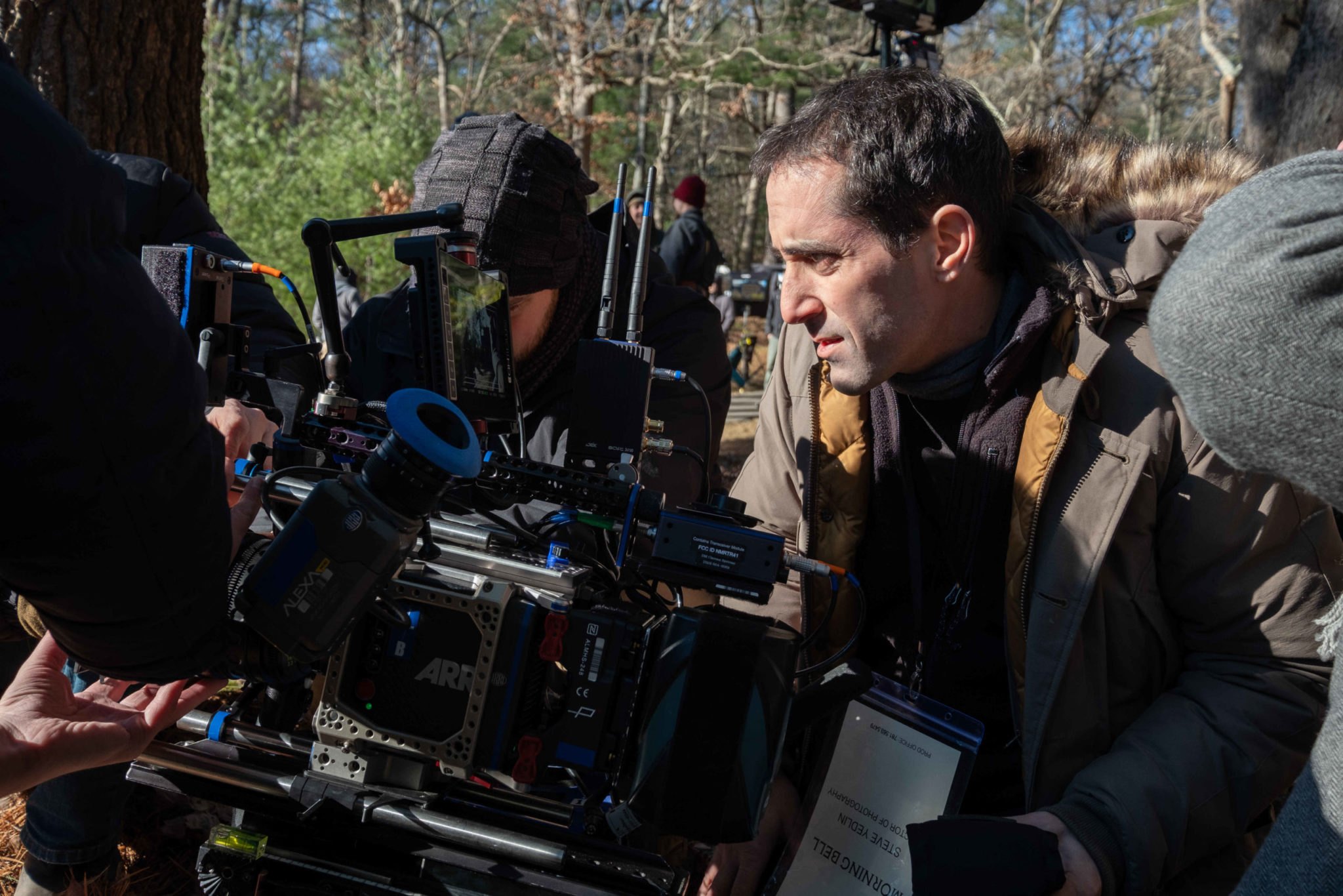 Cinematographer Steve Yedlin, ASC, shooting <i>Knives Out</i> on location.