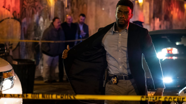Chadwick Boseman in 21 Bridges.
