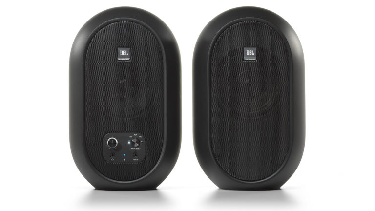 Pair of JBL 104-BT desktop speakers