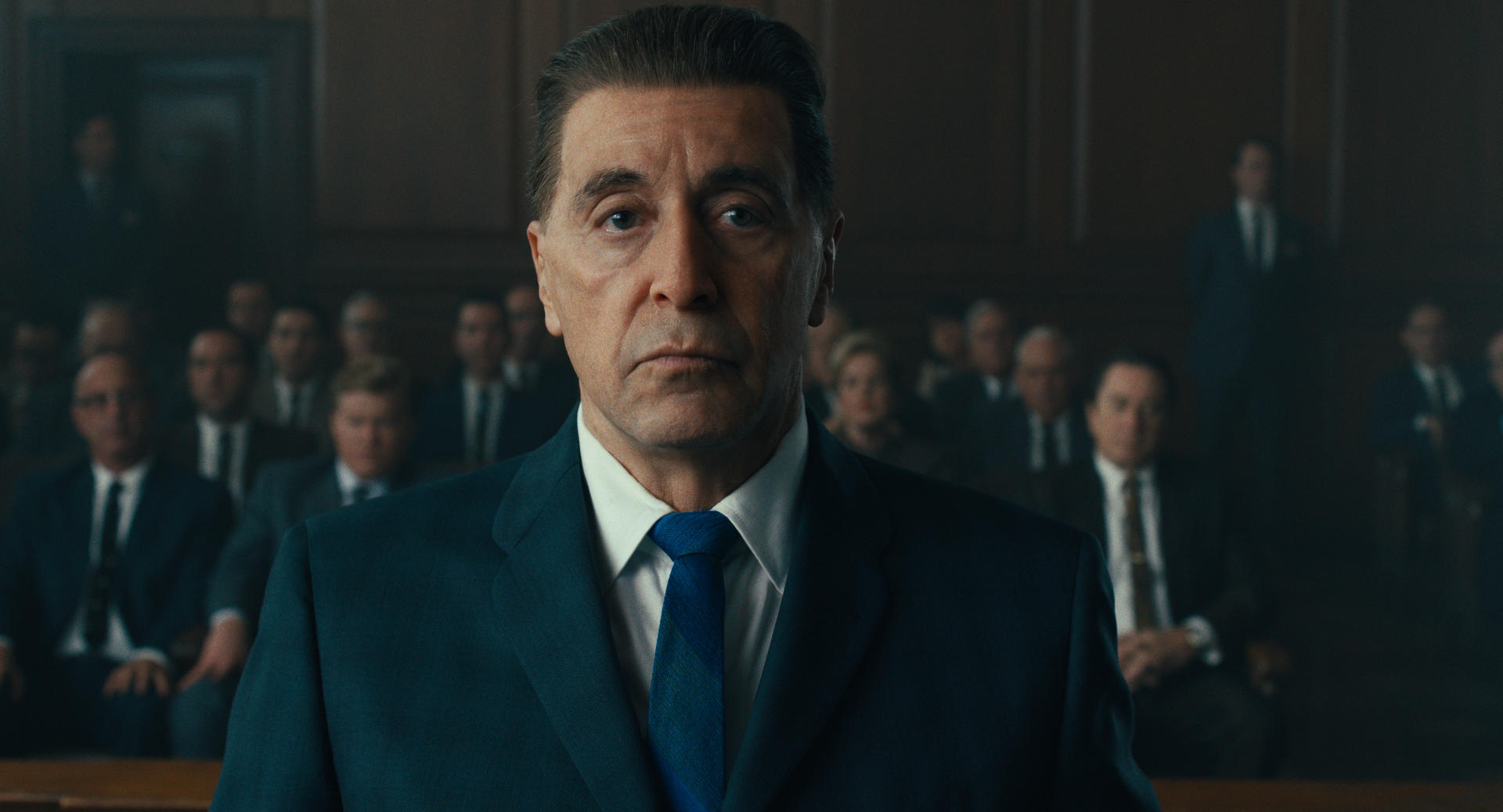 De-aged Al Pacino in <i>The Irishman</i>.