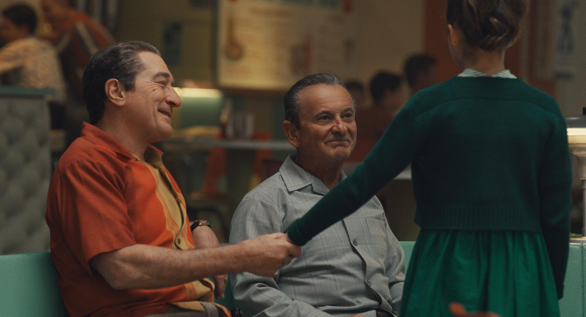 Robert De Niro (left) and Joe Pesci in <i>The Irishman</i>.