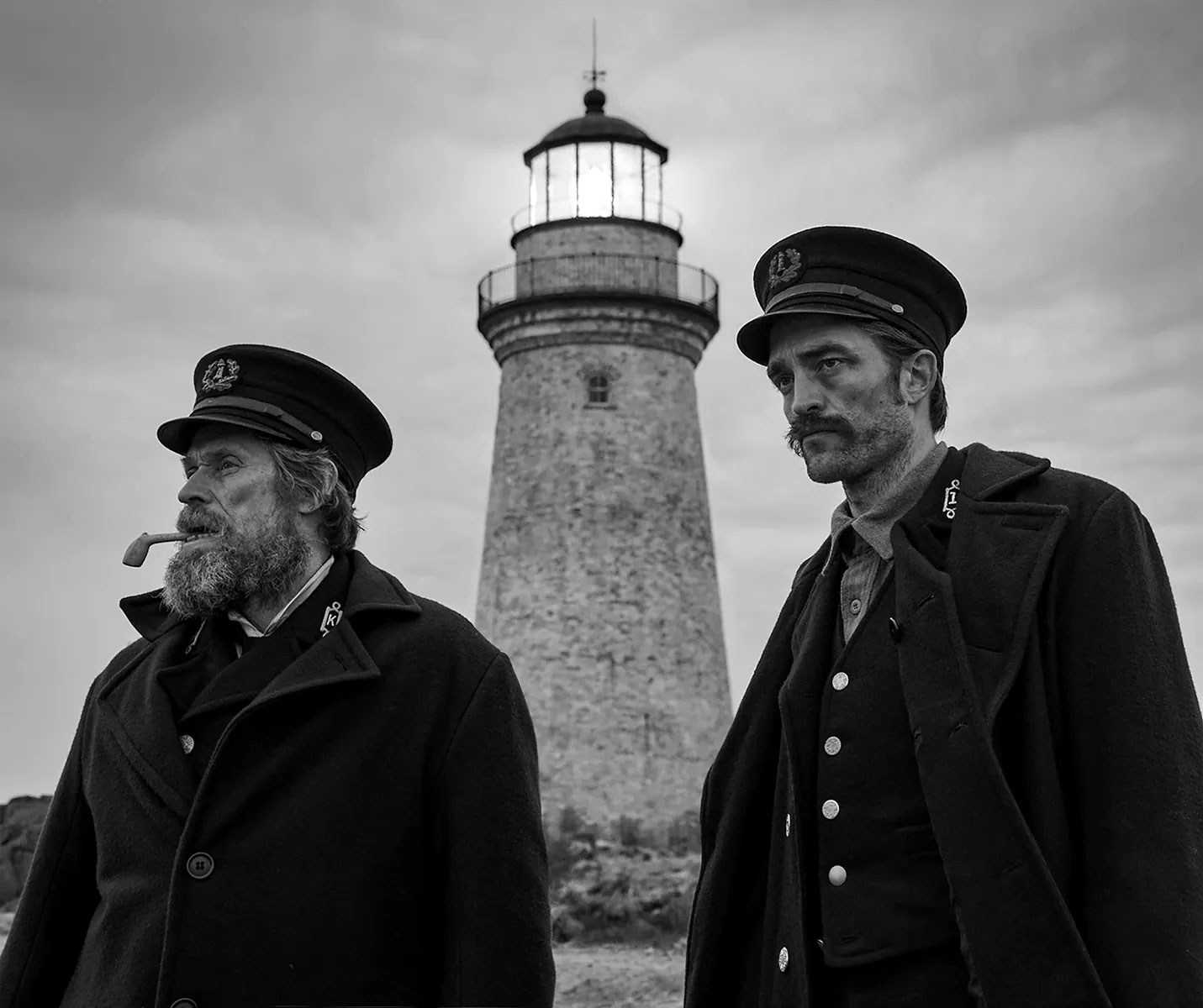 Willem Dafoe (left) and Robert Pattinson in The Lighthouse